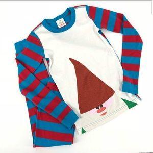 Hanna Andersson striped pajama set gnome        E2